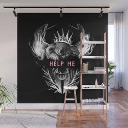 HELP ME !!! Koala, Koalaart, Animal, Black,Minimal,Interior, Black White,Wall art, Art Print,Trendy Wall Mural