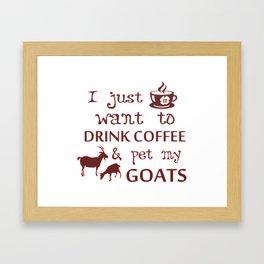 Coffee & Goats Framed Art Print