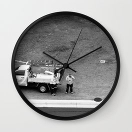 Council Workers Wall Clock