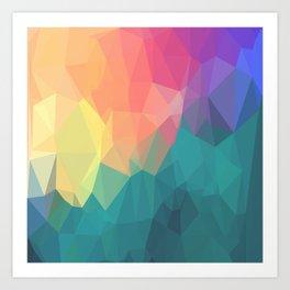 Poygon Colors Art Print