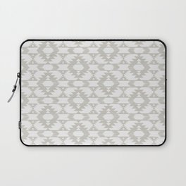 White and neutral brushed tribal kilim pattern Laptop Sleeve