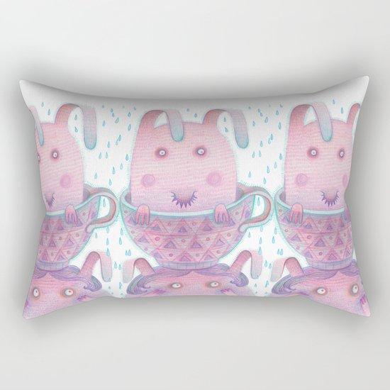 Head in a cup Rectangular Pillow