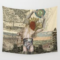atlas Wall Tapestries featuring Atlas by DIVIDUS DESIGN STUDIO
