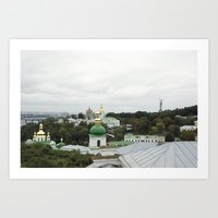 ukraine Art Prints featuring Kiev, Ukraine by Love Crosses Oceans Smith Family
