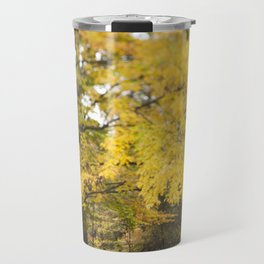 The Bridge Beneath the Yellow Tree Travel Mug