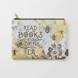 Bee Tea and Books Carry-All Pouch