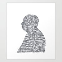 hitchcock Art Prints featuring Hitchcock by S. L. Fina