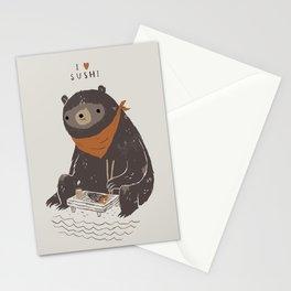 sushi bear Stationery Cards