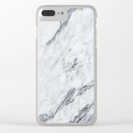 Gray Marble #2 Clear iPhone Case