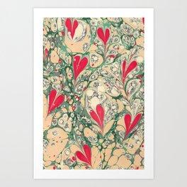 Valentine's Day, Alla hjärtans dag, Swirling harts <3 Art Print