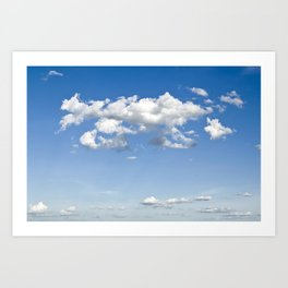 Summer Clouds Art Print