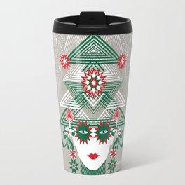 Christmas woman tree Travel Mug