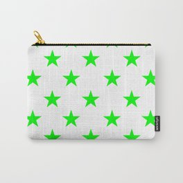 Stars (Green/White) Carry-All Pouch
