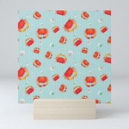 Red Crabs & Sea Shells Mini Art Print