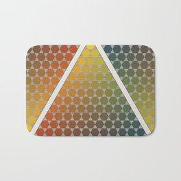 Lichtenberg-Mayer Colour Triangle vintage remake, based on Mayers' original idea and illustration Bath Mat