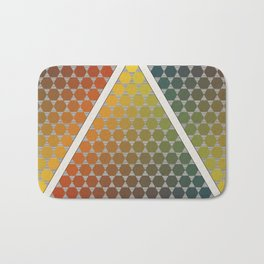 Lichtenberg-Mayer Colour Triangle vintage remake, based on Mayers' original idea and illustration Bath Mat