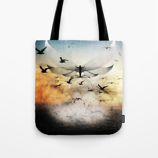 salute the morning Tote Bag