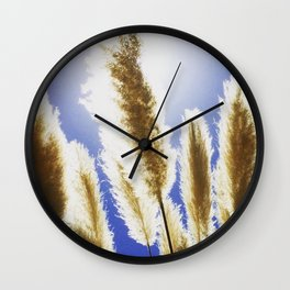 Backlit Blue Wall Clock