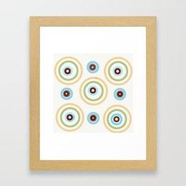 Large Whimsical Circles Parade Framed Art Print