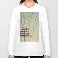 the wire Long Sleeve T-shirts featuring wire by erinreidphoto