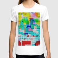 glitch T-shirts featuring Glitch 002 by Karolis Butenas