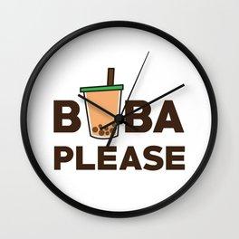 Boba Please Wall Clock