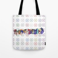 xmen Tote Bags featuring xmen by thev clothing