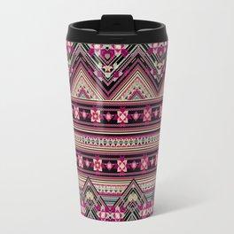 Cross Stitched Boho Travel Mug