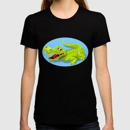 Cartoon Crocodile Vector Design T-shirt