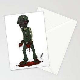 infected soldier Stationery Cards