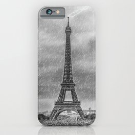 PARIS Eiffel Tower Thunderstorm iPhone Case