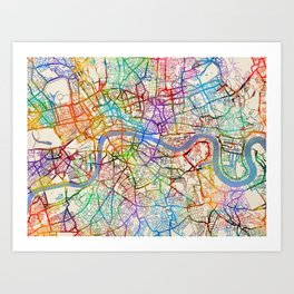 London England City Map.London Map Art Prints Society6