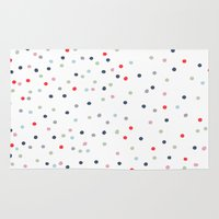 confetti Area & Throw Rugs featuring CONFETTI by KIND OF STYLE