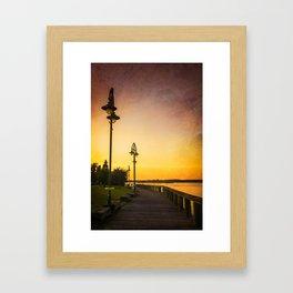 The Fishing Pier Framed Art Print