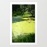 The Green River Art Print