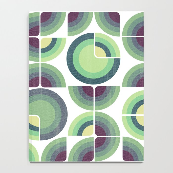 Green Fields Pattern Notebook