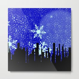Winter Cityscape Background Metal Print