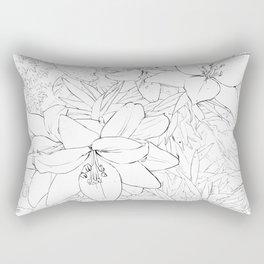 Asiatic Lillies I line art Rectangular Pillow