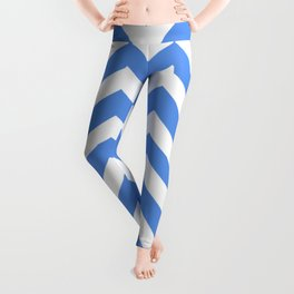 United Nations blue - blue color - Zigzag Chevron Pattern Leggings