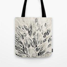 H. Fasciata Succulent Black White Print Tote Bag