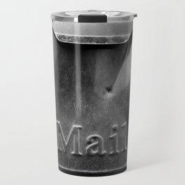 Mail - Black and White Travel Mug