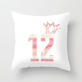 Celebration Candle Birthday Cake Collection T-shirt Birthday 12 Girl Party Celebrate Teen 12th Throw Pillow
