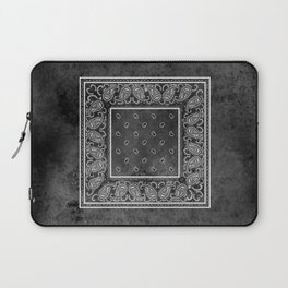 Black Denim Bandana Laptop Sleeve