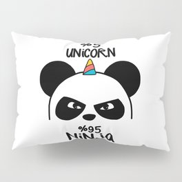 5% Unicorn 95% Ninja Pillow Sham