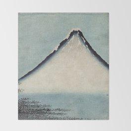Hokusai, the blue fuji- hokusai,manga,japan,fuji, blue fuji,Shinto Throw Blanket