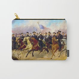 Grant and His Generals by Ole Peter Hansen Balling (1865) Carry-All Pouch