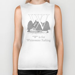 """W"" is for Whitewater Rafting Biker Tank"