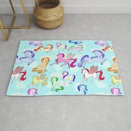 Unicorns repeating pattern Rug