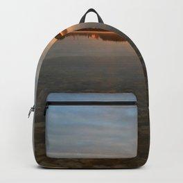 Sunrise at autumn lake Backpack
