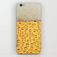 beer iPhone & iPod Skins featuring Beer by Rorzzer